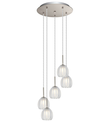 Eglo 200577a Lorcasa 5 Light 12 Inch Matte Nickel Pendant Ceiling Photo