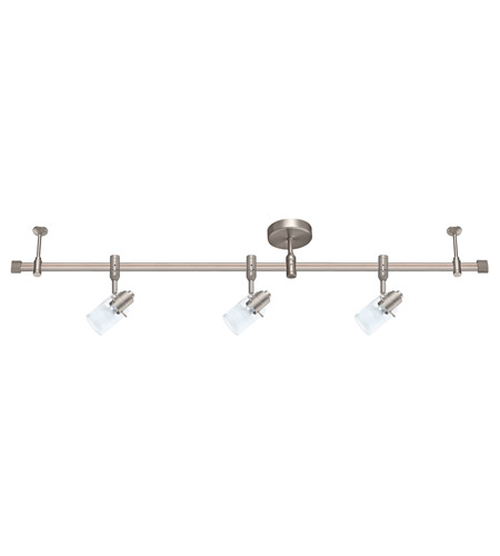 Eglo 200756a Vilanova 3 Light 120v Brushed Nickel Track Ceiling