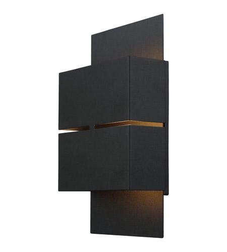 Black Outdoor Wall Light eglo 200886a kibea led 10 inch matte black outdoor wall light