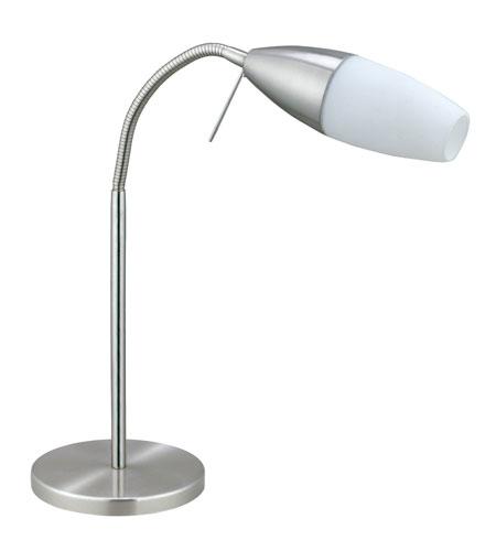 Eglo 20137A Inessa 16 Inch 9 Watt Matte Nickel Table Lamp Portable Light  Photo