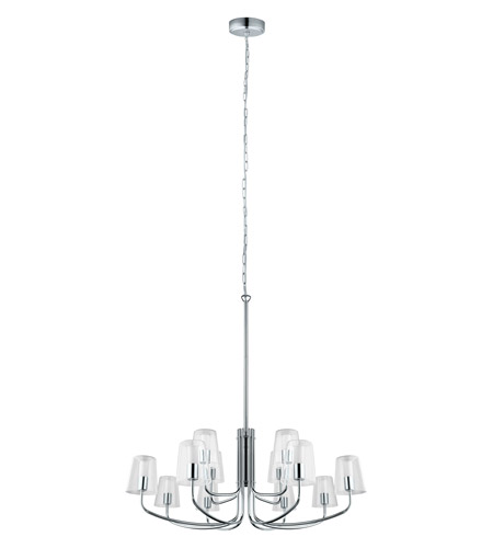 Eglo 201515A Noventa LED 33 inch Chrome Chandelier Ceiling Light photo