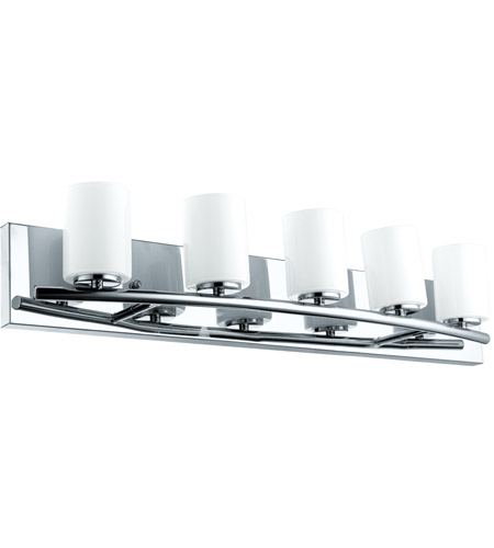 Eglo 201714A Abete 5 Light 29 inch Chrome Vanity Light Wall Light, White Glass photo