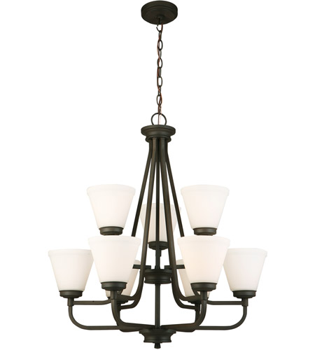 Eglo 202787A Mayview 9 Light 27 inch Matte Bronze Chandelier Ceiling Light photo