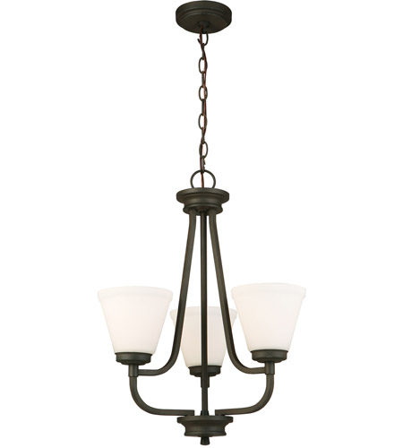 Eglo 202788A Mayview 3 Light 19 inch Matte Bronze Chandelier Ceiling Light photo