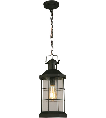 Eglo 202798A San Mateo Creek 1 Light 8 inch Matte Black Outdoor Pendant photo