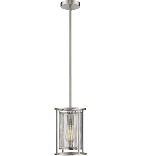 Verona 1 Light 7 Inch Brushed Nickel Mini Pendant Ceiling Light