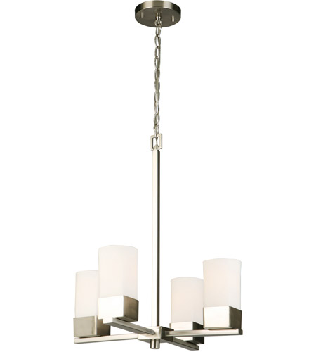 Eglo 202855A Ciara Springs 4 Light 18 inch Brushed Nickel Chandelier Ceiling Light photo