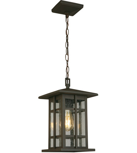 Eglo 202891A Arlington Creek 1 Light 9 inch Matte Bronze Outdoor Pendant photo
