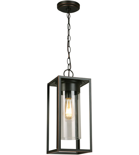 Eglo 202898A Walker Hill 1 Light 7 inch Oil Rubbed Bronze Outdoor Pendant photo