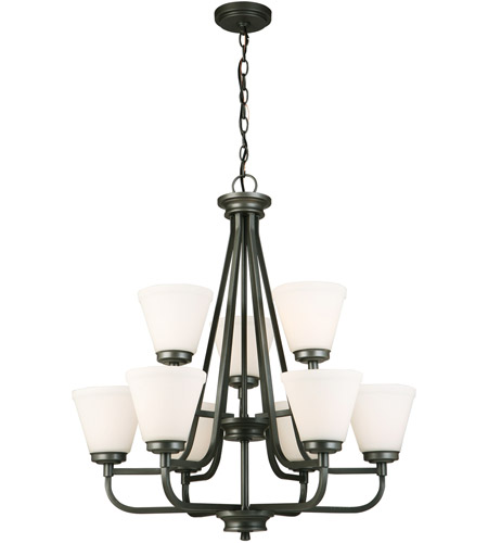 Eglo 202902A Mayview 9 Light 27 inch Graphite Chandelier Ceiling Light photo