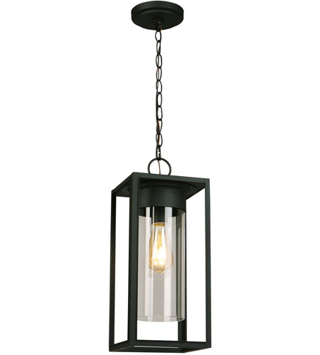 Walker Hill 1 Light 7 Inch Matte Black Outdoor Pendant
