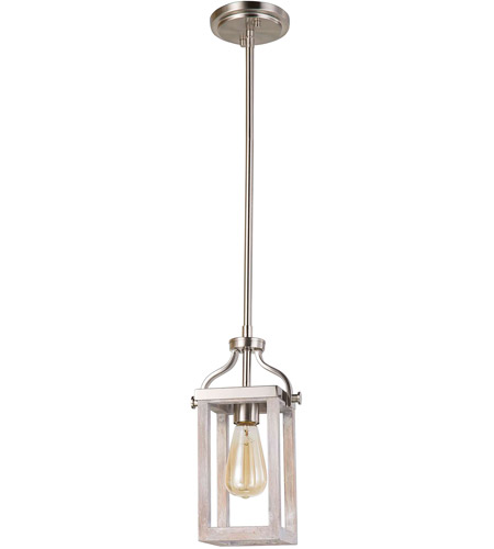Eglo 203104A Montrose 1 Light 5 inch Acacia Wood and Brushed Nickel Mini Pendant Ceiling Light photo