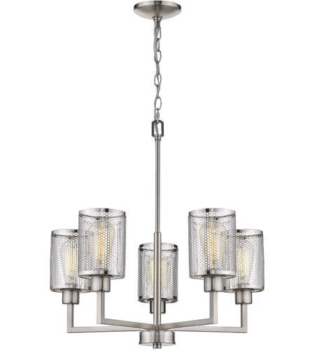 Eglo 203471A Verona 5 Light 23 inch Brushed Nickel Chandelier Ceiling Light photo