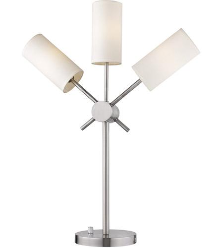 Eglo 203477a Willsboro 27 Inch 25 Watt Polished Nickel Table Lamp Portable Light Photo