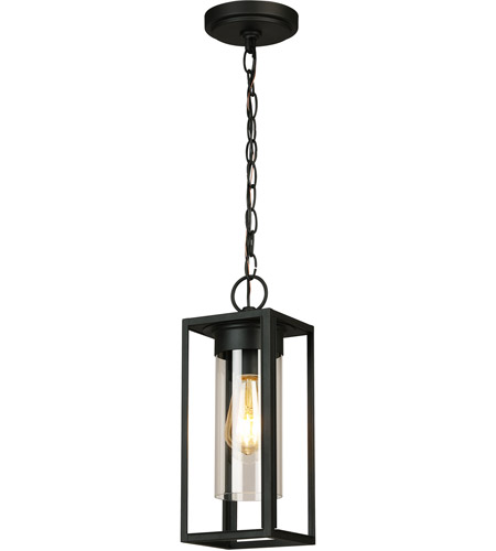 Eglo 203664A Walker Hill 1 Light 5 inch Matte Black Outdoor Pendant photo