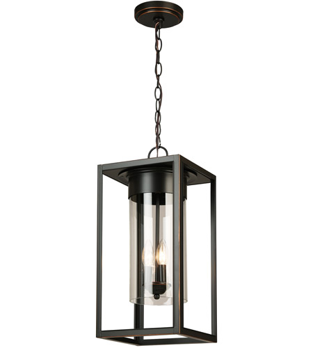 Eglo 203668A Walker Hill 3 Light 9 inch Oil Rubbed Bronze Outdoor Pendant photo