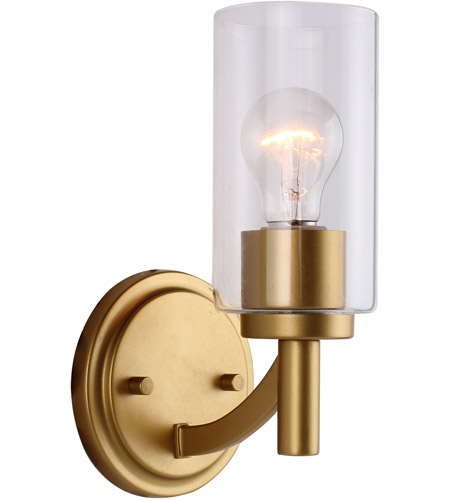6 Inch Antique Gold Wall Sconce Light