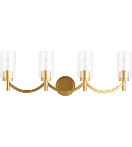 Eglo 203753A Devora 4 Light 31 inch Antique Gold Bath Vanity Wall Light photo
