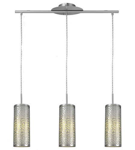 Eglo Almera I 3 Light Hanging Light In Matte Nickel 20436A