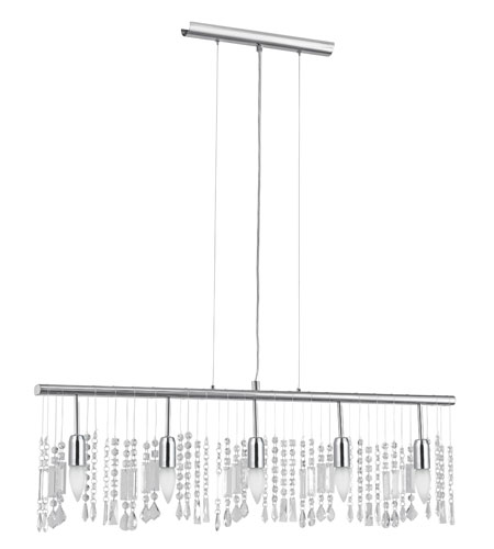 Eglo Lighting Vitoria 5 Light Trestle Hanging Light in Chrome 20679A photo