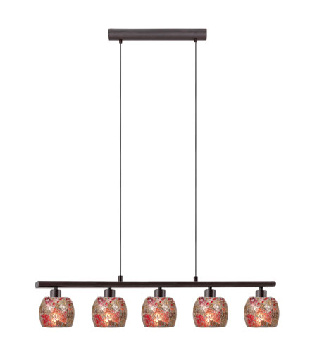 Eglo 28807A Sabana 5 Light 23 inch Antique Brown Island Light Ceiling Light photo