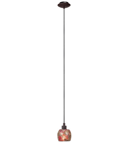 Eglo Sabana 1 Light Pendant in Antique Brown 28861A photo