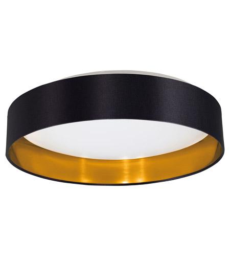 eglo 31622a maserlo led 16 inch black and gold flush mount. Black Bedroom Furniture Sets. Home Design Ideas