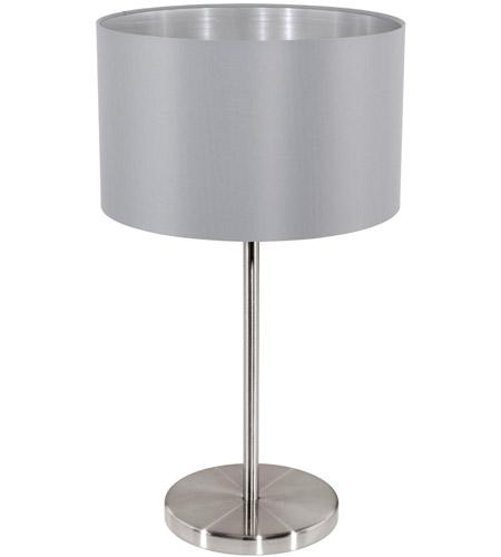 Eglo 31628a Maserlo 16 Inch 60 Watt Matte Nickel Table Lamp Portable