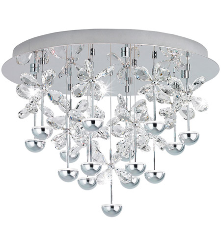 Eglo 39245A Pianopoli LED 20 inch Chrome Flush Mount Ceiling Light photo