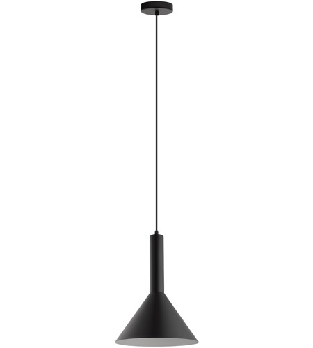 Eglo 62998A Canalello 1 Light 12 inch Black with White Interior Mini Pendant Ceiling Light photo