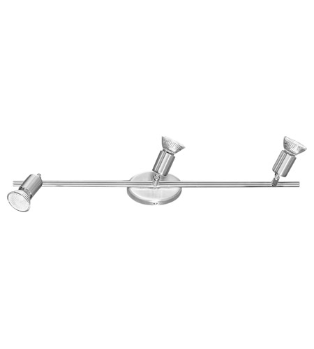 Eglo 83048A Buzz 3 Light 120V Matte Nickel & Chrome Track Lighting Ceiling Light photo