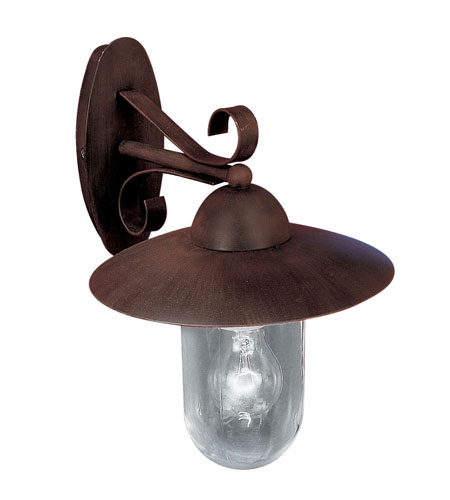Eglo Milton 1 Light Outdoor Wall Light in Antique Brown 83589A photo