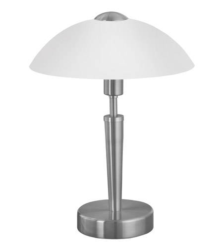 Eglo 85104a Solo 14 Inch 60 Watt Matte Nickel Table Lamp Portable Light