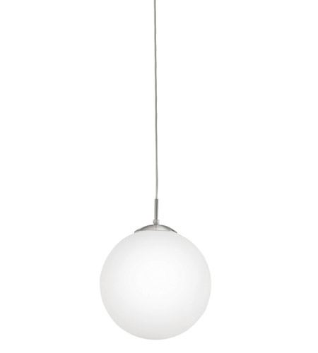 eglo 85263a rondo 1 light 12 inch matte nickel pendant light ceiling
