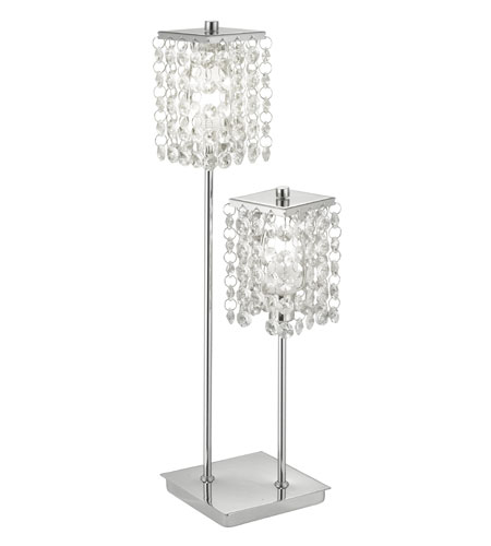 Eglo Pyton 2 Light Table Lamp in Chrome 85334A photo