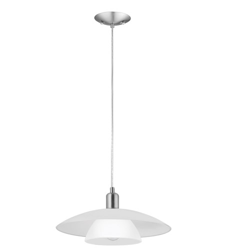 Eglo Lighting Brenda 1 Light Pendant in Matte Nickel 87052A photo