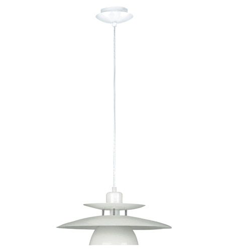 Eglo Brenda 1 Light Pendant in White 87055A photo