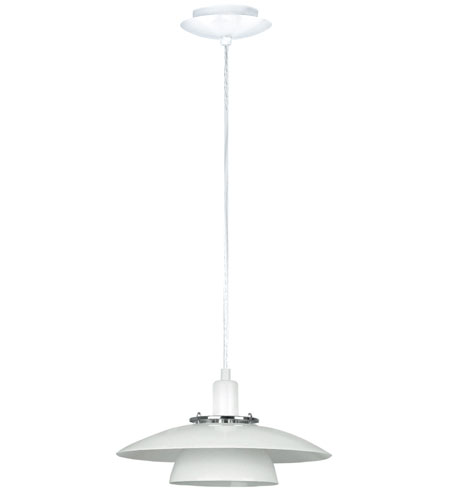 Eglo Brenda 1 Light Pendant in White Chrome 87057A photo