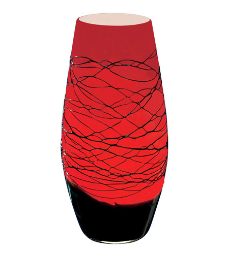 Red Chandelier Table Lamp: Eglo Emporiblack/red Table Lamps 87704A