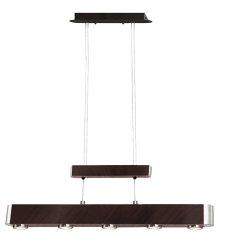 Eglo Chicago 5 Light Island Light in Antique Brown/Matte Nickel 87953A photo