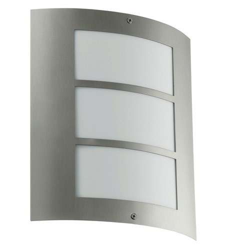 Eglo Lighting City 1 Light Outdoor Wall Light in Stainless Steel 88139A photo