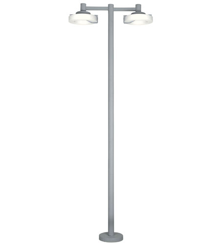 Eglo Roi 2 Light Outdoor Post Light in Silver 88158A photo