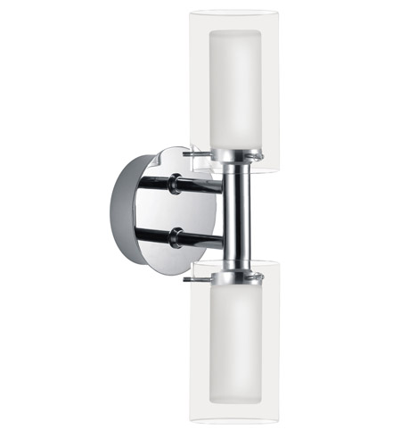 Eglo Lighting Palermo 2 Light Wall Light in Chrome 88194A photo