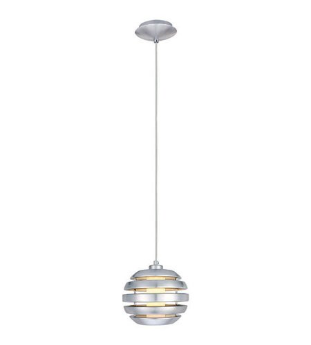 Eglo Lighting Mercur 1 Light Pendant in Brushed Aluminum 88293A photo