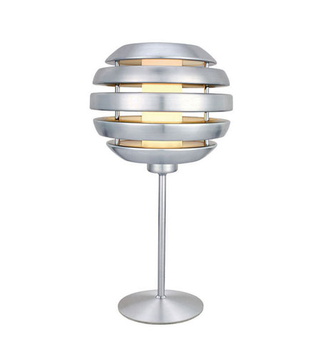 Eglo Mercur 1 Light Table Lamp in Brushed Aluminum 88297A photo