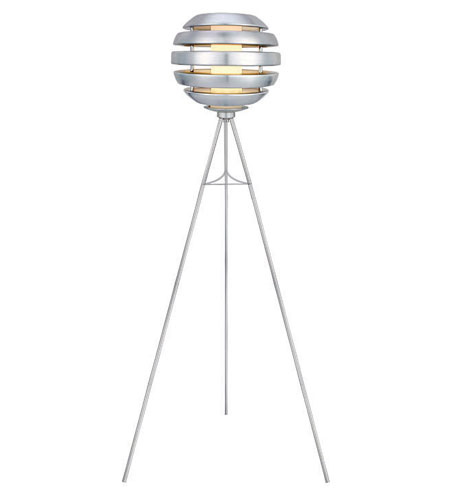 Eglo Mercur 1 Light Floor Lamp in Brushed Aluminum 88298A photo