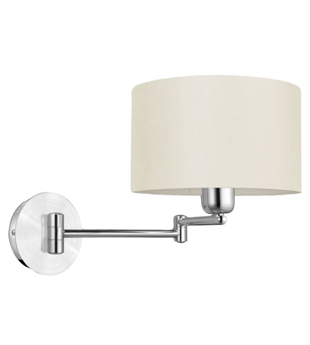 Eglo Lighting Halva 1 Light Wall Light in Brushed Aluminum & Chrome 88563A photo