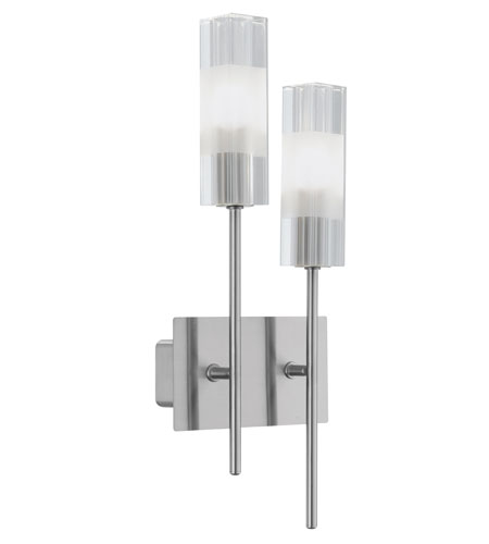 Eglo Alessa 2 Light Wall Light in Matte Nickel 88849A photo
