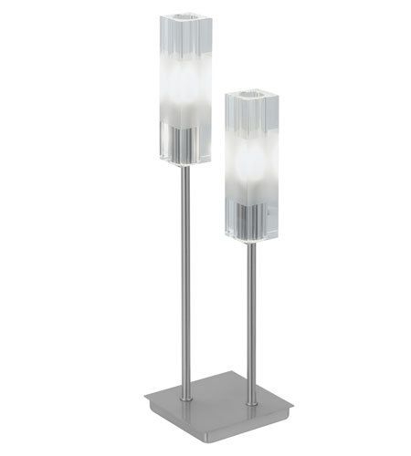 Eglo Alessa 2 Light Table Lamp in Matte Nickel 88851A photo