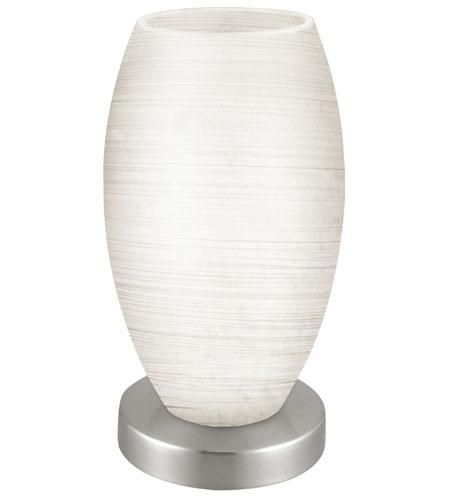 Great Eglo 88957A Batista 9 Inch 60 Watt Matte Nickel Table Lamp Portable Light